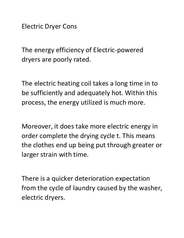 5 electric dryer