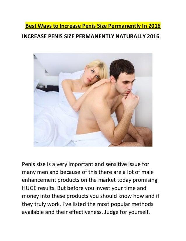 Ways to increase penis size