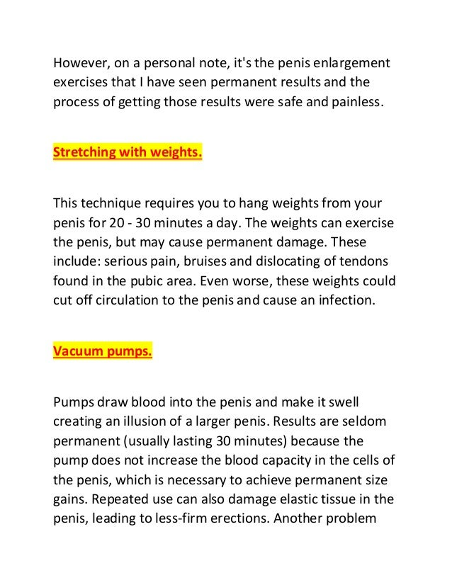 Ways To Increase Penis Size