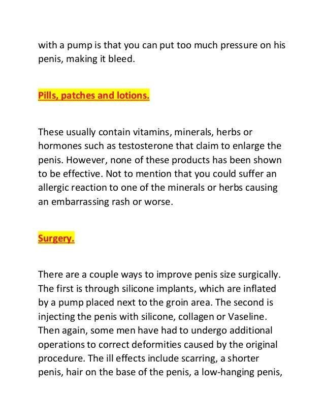 Ways to increase penis