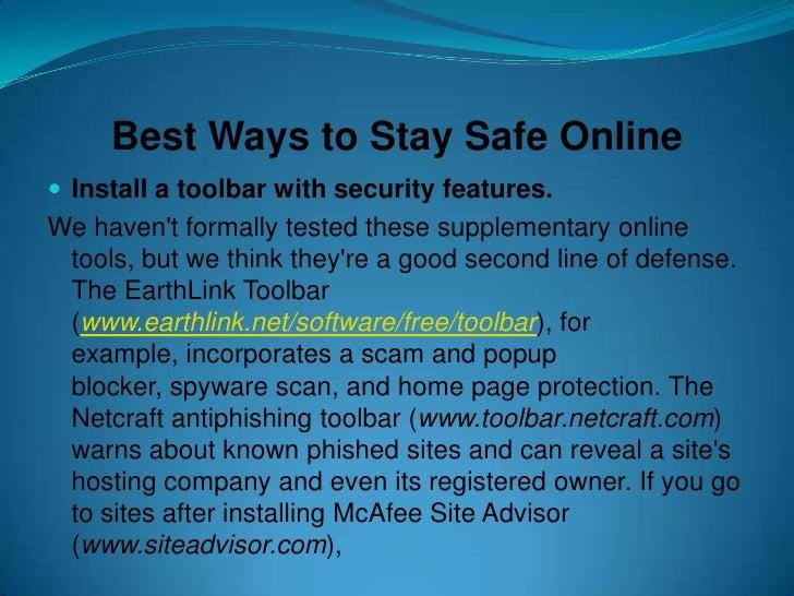 Best Ways To Stay Safe Online