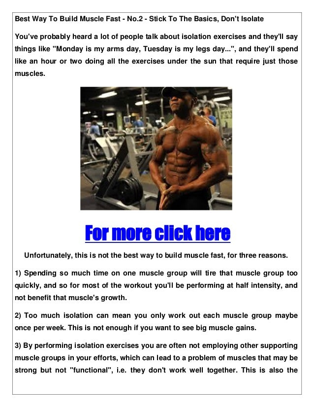 Best way to build muscle fast 5 muscle building tips