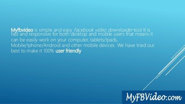 Best way to download facebook video online