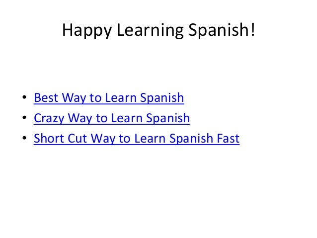 How To Learn Spanish FAST - YouTube