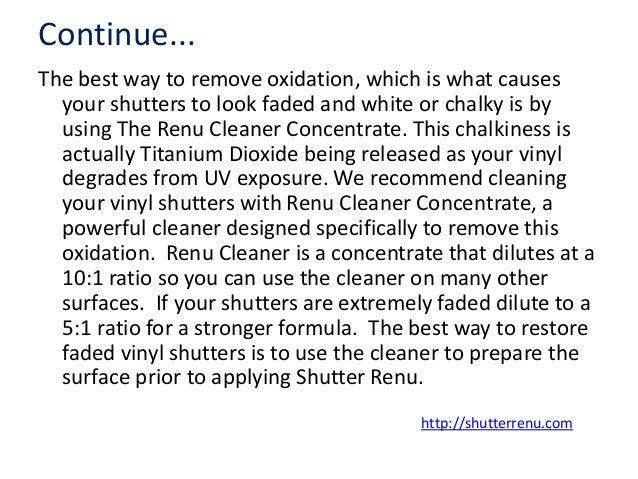 Best Way To Restore Faded Vinyl Shutters