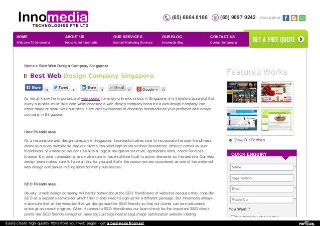 Best web design company singapore for Design company singapore
