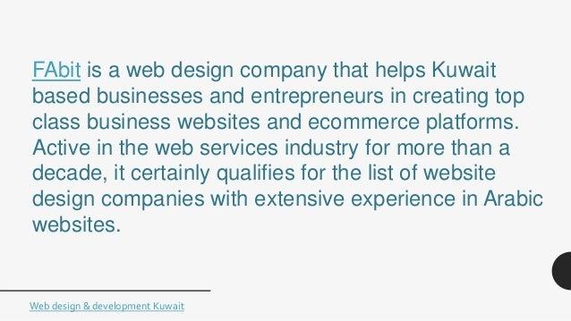 Best Website Design&Development Companies in Kuwait List
