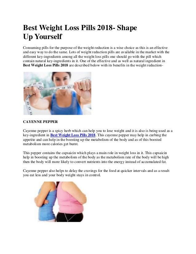 f9da1411a1 Best Weight Loss Pills 2018- Shape Up Yourself