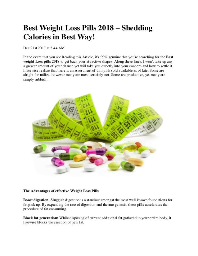 Best Weight Loss Pills 2018 Shedding Calories In Best Way