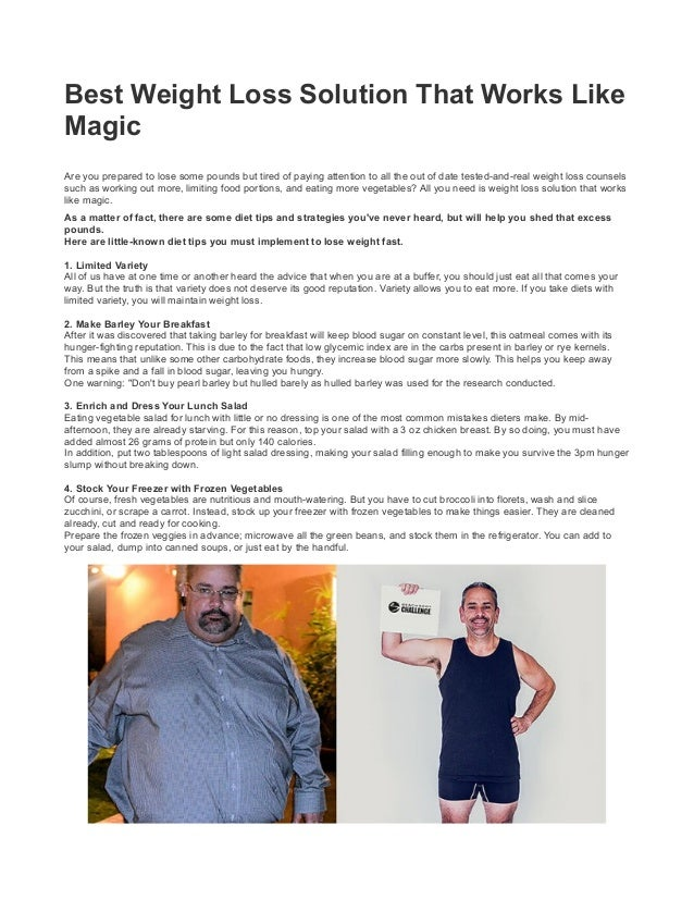 Best Weight Loss Solution That Works Like Magic Pdf Free Download