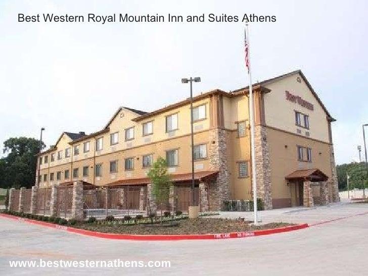 www.bestwesternathens.com Best Western Royal Mountain Inn and Suites Athens
