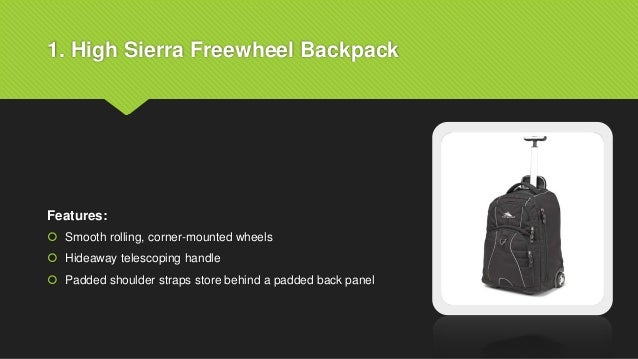 7f2e42f02a Best wheeled backpack for travel ppt