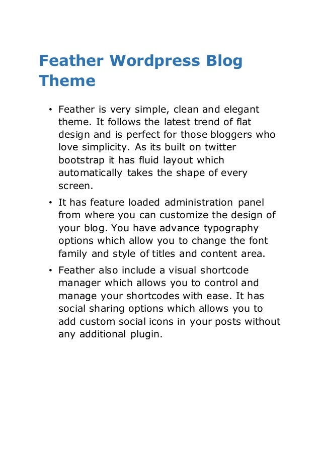 Best Wordpress Blog Themes - 2015 Collection