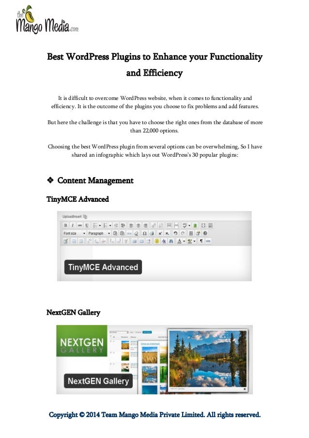 Best WordPress Plugins to Enhance your Functionality and Efficiency It is difficult to overcome WordPress website, when it...