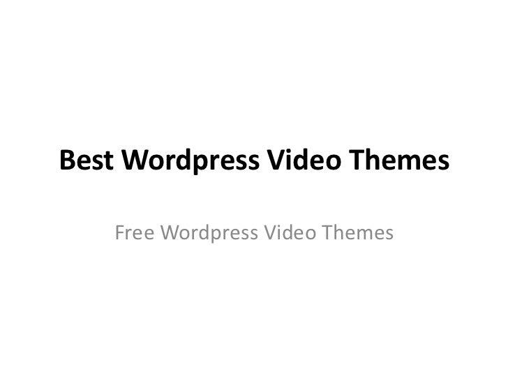 Best Wordpress Video Themes   Free Wordpress Video Themes
