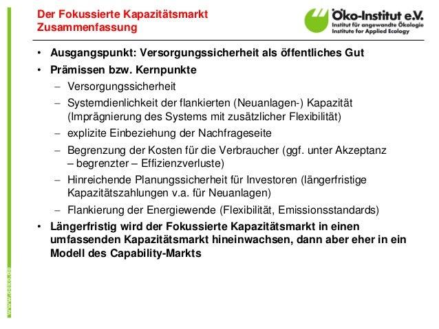 • Ausgangspunkt: Versorgungssicherheit als öffentliches Gut • Prämissen bzw. Kernpunkte  Versorgungssicherheit  Systemdi...