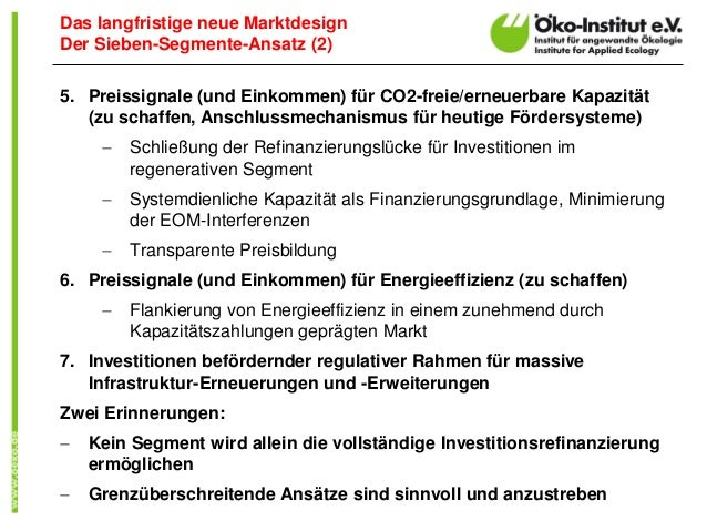5. Preissignale (und Einkommen) für CO2-freie/erneuerbare Kapazität (zu schaffen, Anschlussmechanismus für heutige Förders...