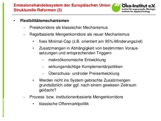 Um das zu erreichen, hat die EU das Emissionshandelssystem (EU-ETS) eingeführt. Andere Emittenten, allen voran der Verkehrssektor, sind .
