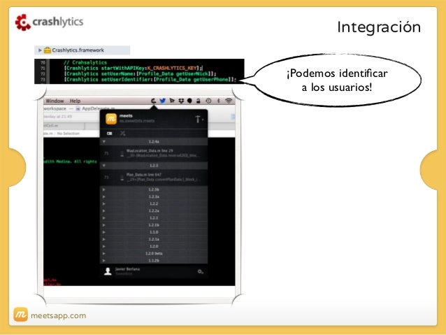 Integración ¡Podemos identificar a los usuarios!  meetsapp.com