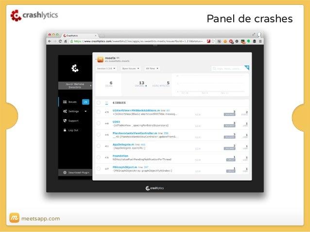 Panel de crashes  meetsapp.com