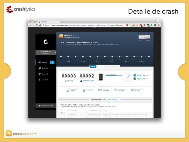 Detalle de crash  meetsapp.com