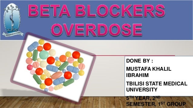 Beta blocker overdose (toxicology)