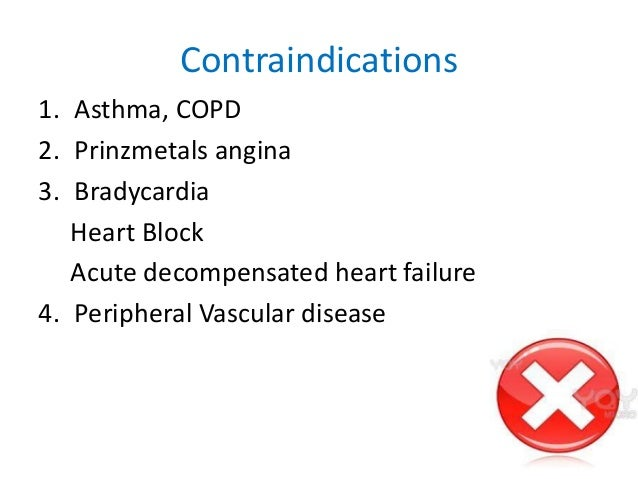 why is propranolol contraindicated in asthma