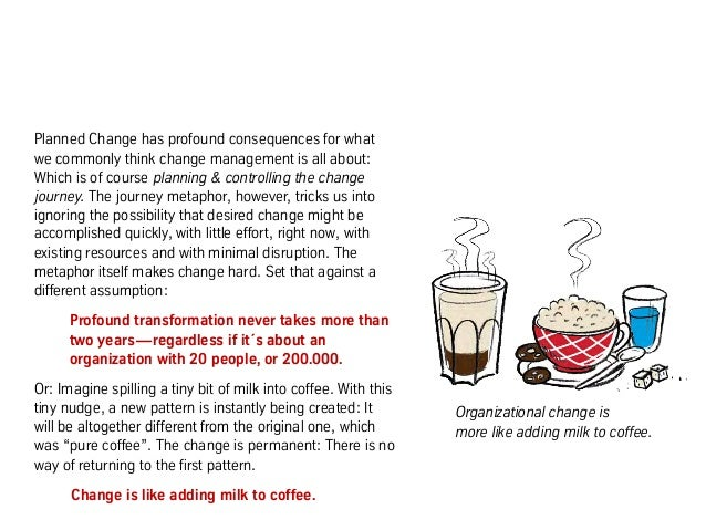 Planned Change has profound consequences for what we commonly think change management is all about: Which is of course pla...