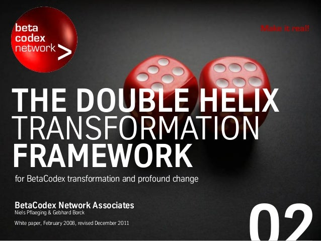 THE DOUBLE HELIX TRANSFORMATION FRAMEWORKfor BetaCodex transformation and profound change Make it real! BetaCodex Network ...