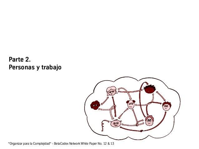 """Parte 2. Personas y trabajo """"Organizar para la Complejidad"""" - BetaCodex Network White Paper No. 12 & 13"""