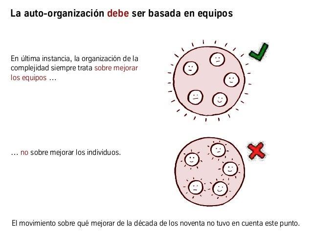 En última instancia, la organización de la complejidad siempre trata sobre mejorar los equipos … … no sobre mejorar los in...