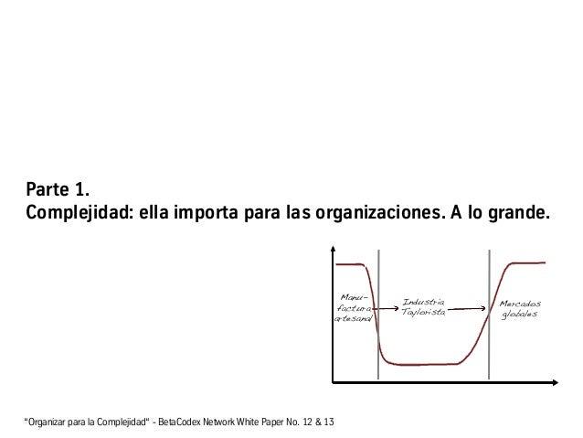 """Parte 1. Complejidad: ella importa para las organizaciones. A lo grande. """"Organizar para la Complejidad"""" - BetaCodex Netwo..."""