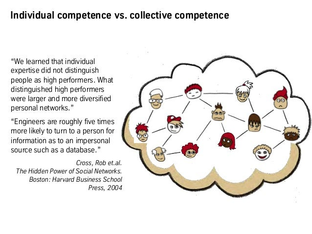 """Individual competence vs. collective competence """"We learned that individual expertise did not distinguish people as high p..."""