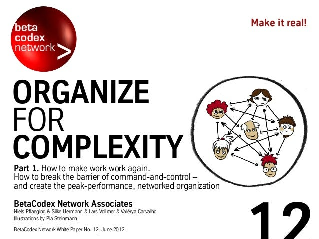 Part 1. How to make work work again. How to break the barrier of command-and-control – and create the peak-performance, ne...