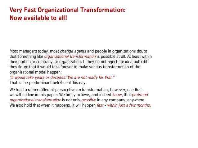 Secrets of Very Fast Organizational Transformation (BetaCodex15) Slide 2
