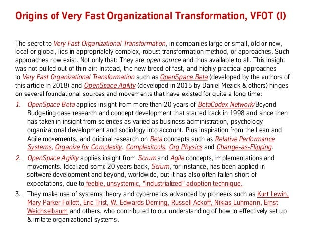 Secrets of Very Fast Organizational Transformation (BetaCodex15) Slide 3