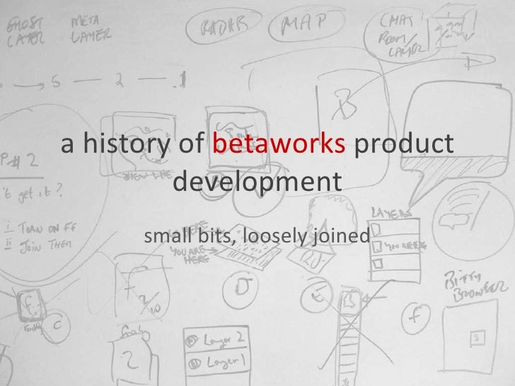 a history of  betaworks  product development small bits, loosely joined