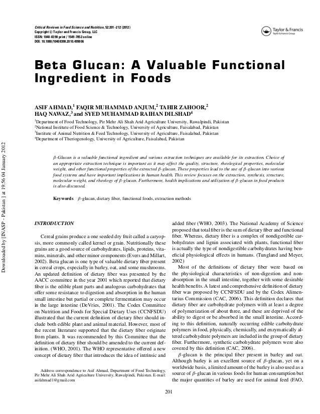 Beta-D-Glucane