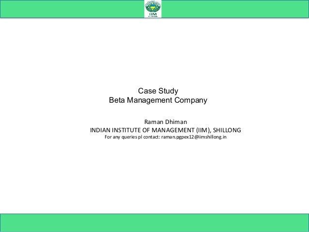 beta management company case summary
