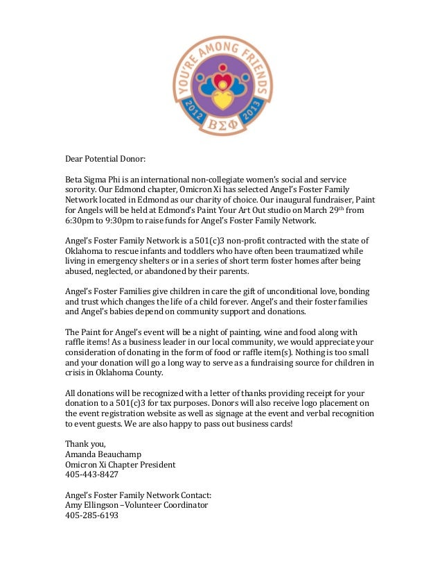 beta sigma phi fundraiser letter dear potential donor beta fundraiser cover letter 04052017 - Fundraiser Cover Letter