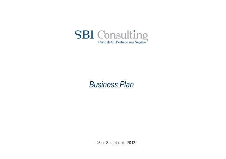 Business Plan  25 de Setembro de 2012