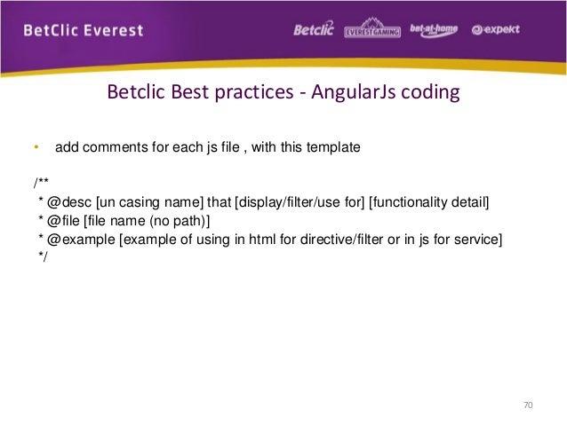 AngularJS Best Practices