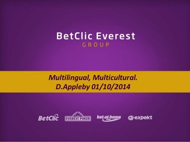 Multilingual, Multicultural. D.Appleby 01/10/2014