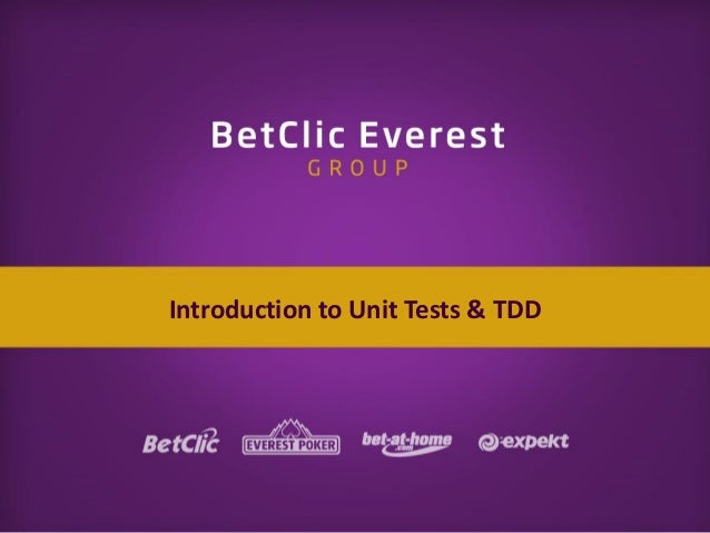 Introduction to Unit Tests & TDD