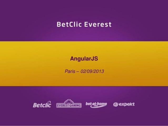 AngularJS Paris – 02/09/2013