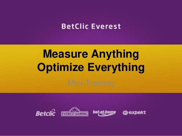 Measure Anything Optimize Everything Mini-Training