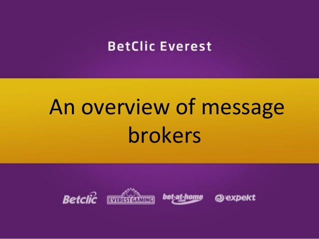 An overview of message brokers