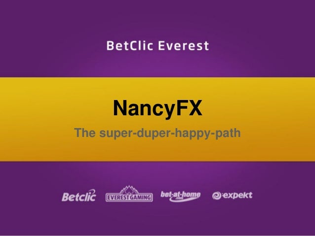 NancyFX The super-duper-happy-path