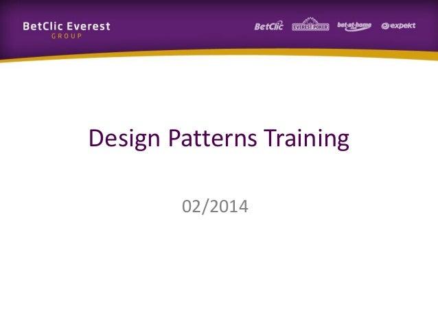 Design Patterns Training 02/2014