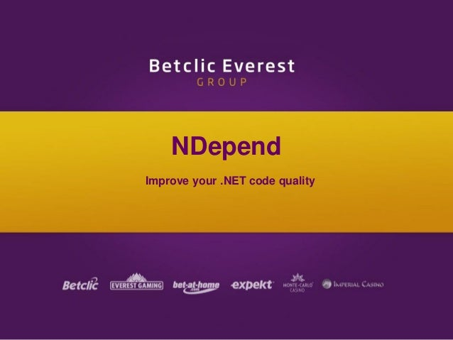 NDepend Improve your .NET code quality